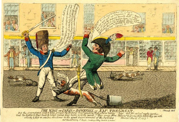 Томас Роулендсон. Шутники Парижа или Падение Наполеона Великого.jpg
